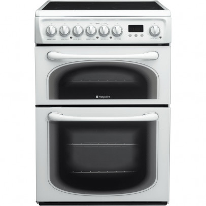Hotpoint 60HEPS 60cm Double Oven Electric Cooker – White