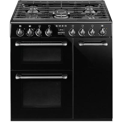 Smeg BU93BL 90cm 'Burghley' Dual Fuel Range Cooker – Black