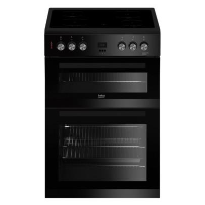 Beko EDC633K 60cm Double Oven Electric Cooker – Black