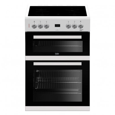 Beko EDC633W 60cm Double Oven Electric Cooker – White
