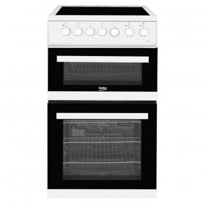 Beko EDVC503W 50cm Double Oven Electric Cooker – White
