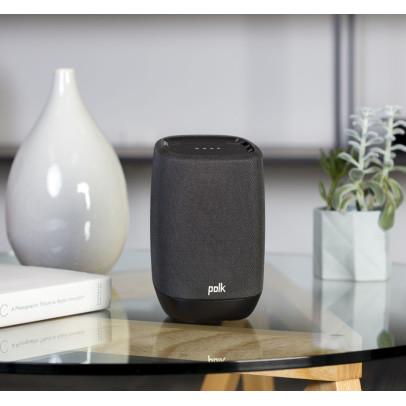 Polk Assist-B Google Assistant Smart Speaker with Bluetooth – Black