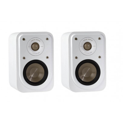 Polk Signature S10 Compact Satellite Surround Speakers/Bookshelf Speakers – White Walnut