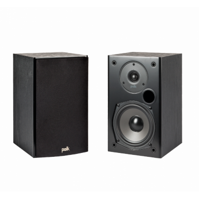 Polk T15 Bookshelf Speakers – Black