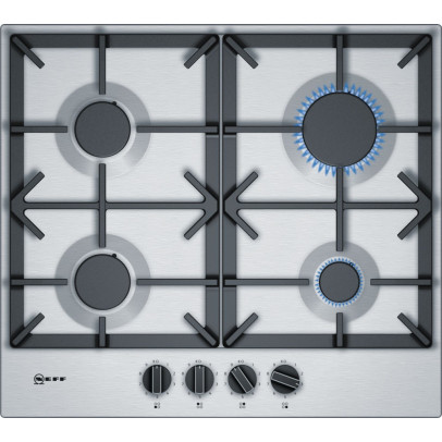 Neff T26DS49N0 60cm Gas Hob – Stainless Steel