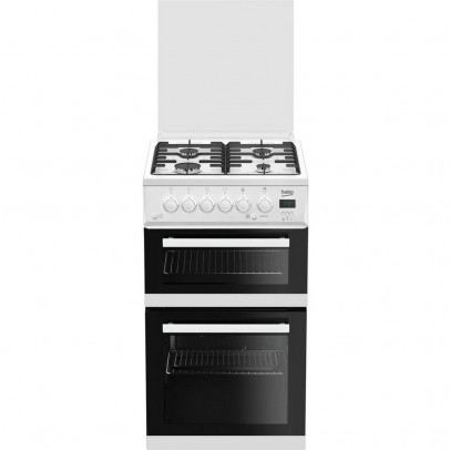 Beko EDG506W 50cm Twin Cavity Gas Cooker – White