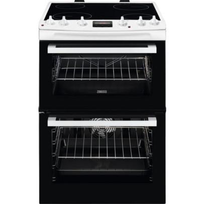 Zanussi ZCV66078WA 60cm Double Oven Electric Cooker – White