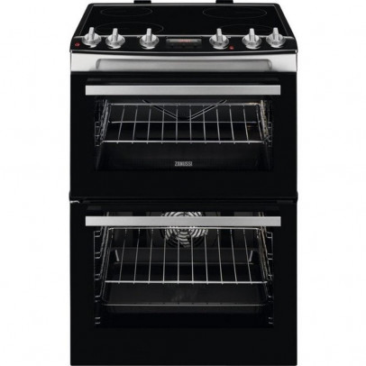 Zanussi ZCV66078XA 60cm Double Oven Electric Cooker – Stainless Steel