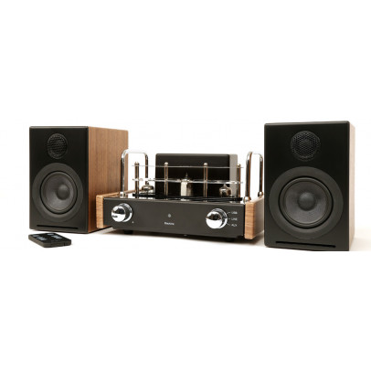 Blue Aura V30i Blackline Valve Amplifier & Bookshelf Speaker System – Walnut