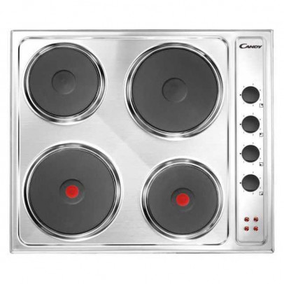 Candy CLE64X 60cm Solid Plate Hob – Stainless Steel