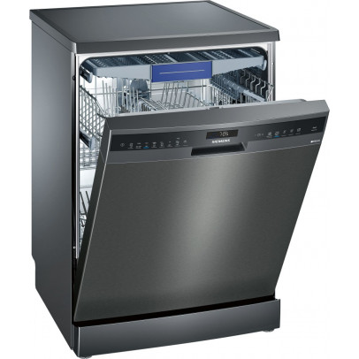 Siemens SN258B00NE Dishwasher with Cutlery Tray – Black Steel