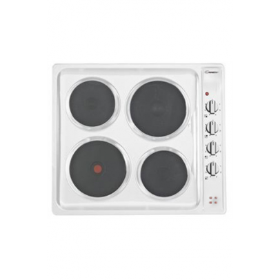 Candy CLE64W 60cm Solid Plate Hob – White