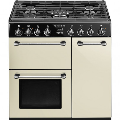 Smeg BM93P 'Blenheim' 90cm Dual Fuel Range Cooker – Cream