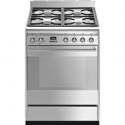Smeg SUK61MX9 60cm 'Concert' Dual Fuel Single Oven Mini Range – Stainless Steel