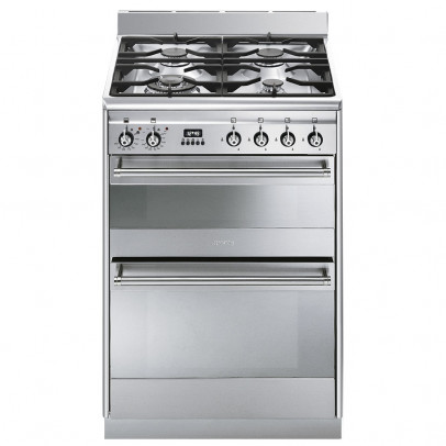 Smeg SUK62MX8 60cm 'Concert' Dual Fuel Mini Range – Stainless Steel