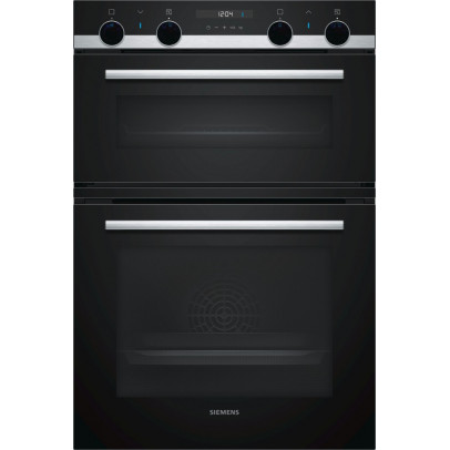 Siemens MB535A0S0B Built-In Double Oven – Black & Stainless Steel