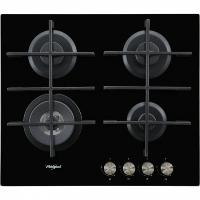Whirlpool GOW6423NB 60cm Gas Hob – Black Glass