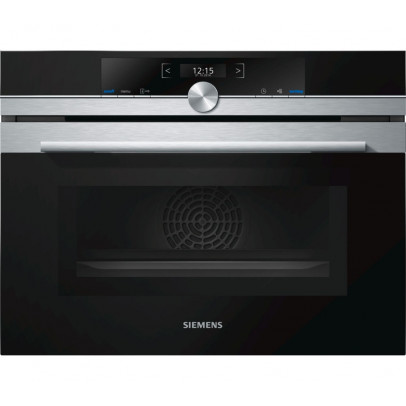 Siemens CM633GBS1B iQ700 Built-In Compact Oven with Microwave – Black & Stainless Steel