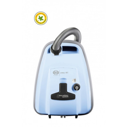 Sebo 93660GB K1 ePower Bagged Cylinder Vacuum – Pastel Blue
