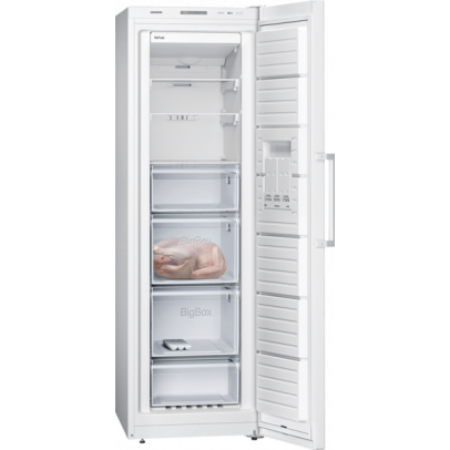 Siemens GS36NVW3PG 60cm Frost Free Upright Freezer – White
