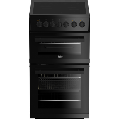 Beko EDVC503B 50cm Double Oven Electric Cooker – Black