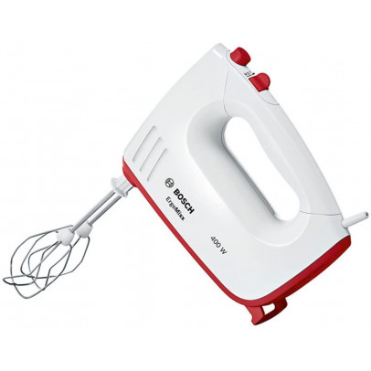 Bosch MFQ36300GB 400W Hand Mixer – White & Red