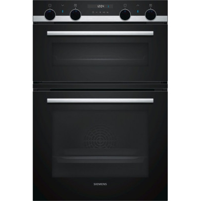 Siemens MB557G5S0B Built-In Double Oven – Black & Stainless Steel