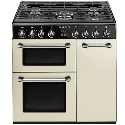 Smeg BU93P 90cm 'Burghley' Dual Fuel Range Cooker – Cream