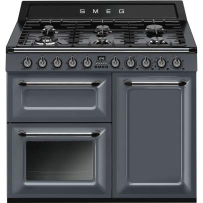 Smeg TR103GR 100cm 'Victoria' Dual Fuel Range Cooker – Slate Grey