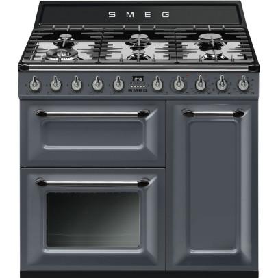 Smeg TR93GR 90cm 'Victoria' Dual Fuel Range Cooker – Slate Grey