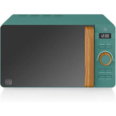 Swan SM22036GREN 20L 'Nordic' Solo Microwave – Pine Green