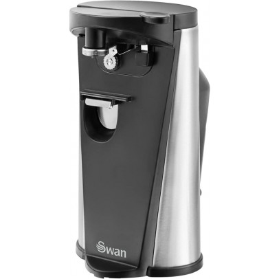 Swan SP20110N 3-in-1 Electric Can Opener with Knife Sharpener & Bottle Opener