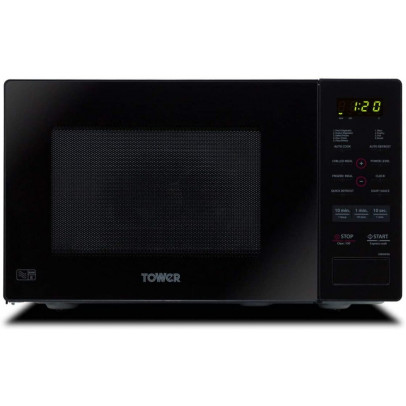 Tower KOR9GPBT 26L Solo Microwave – Black