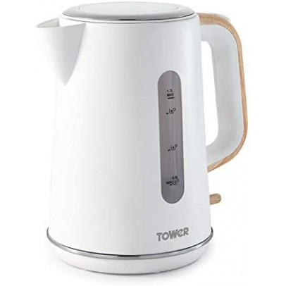 Tower T10037 1.7L Scandi Jug Kettle – White