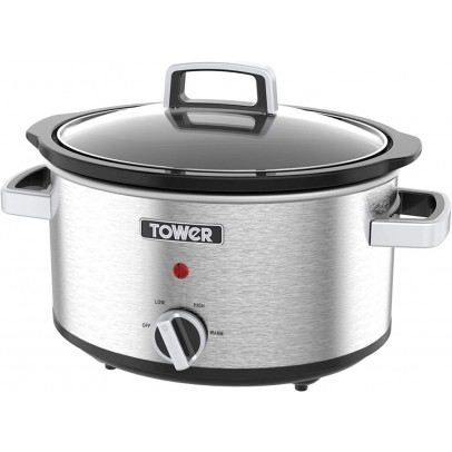 Tower T16018 3.5L Slow Cooker – Stainless Steel