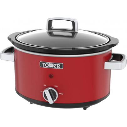 Tower T16018R 3.5L 'Infinity' Slow Cooker – Red