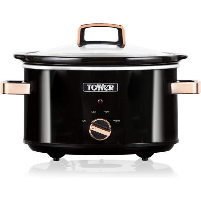 Tower T16018RG 3.5L Slow Cooker – Black & Rose Gold
