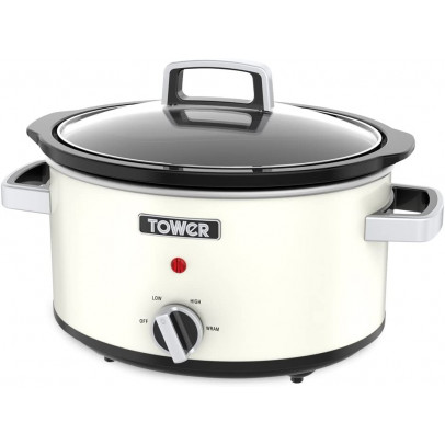 Tower T16019C 6.5L 'Infinity' Slow Cooker – Cream