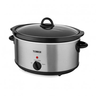 Tower T16029BF 5.5L Slow Cooker – Stainless Steel