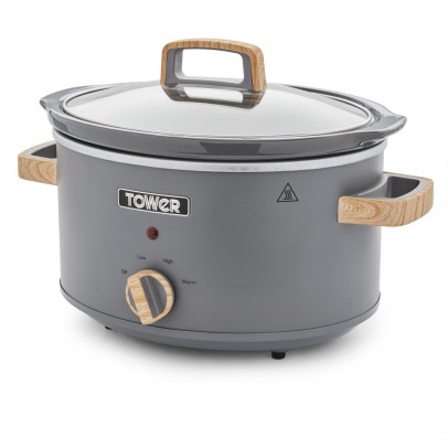 Tower T16034GRY 3.5L 'Scandi' Slow Cooker – Grey