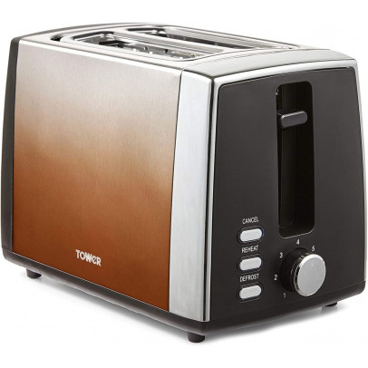 Tower T20038COP 2-Slice Infinity Ombre Toaster – Copper