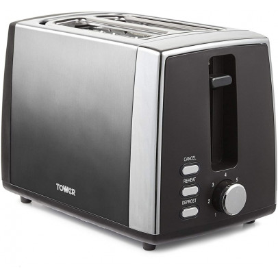 Tower T20038GRP 2-Slice Infinity Ombre Toaster – Graphite