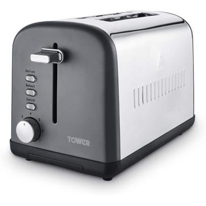 Tower T20041SLT 2-Slice Infinity Stone Toaster – Slate