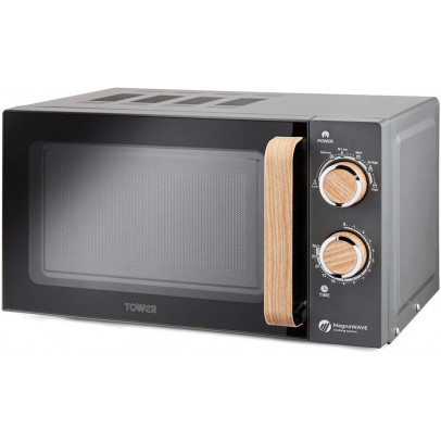 Tower T24027G 20L 'Scandi' Solo Microwave – Grey