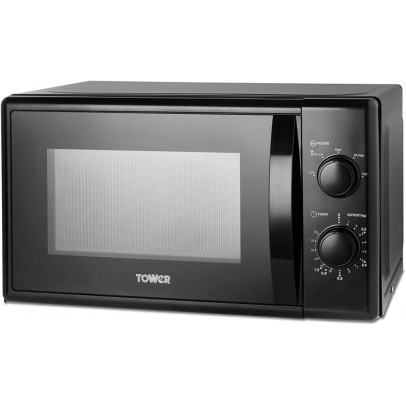 Tower T24034BLK 20L Solo Microwave – Black