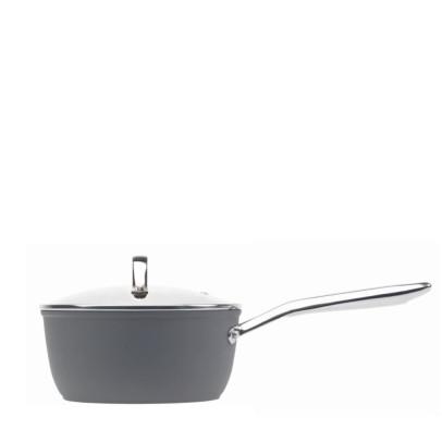 Haden 192554 18cm 'Perth' Forged Aluminium Saucepan – Slate Grey