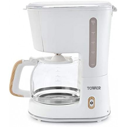 Tower T13006 'Scandi' 10-Cup Filter Coffee Maker – White