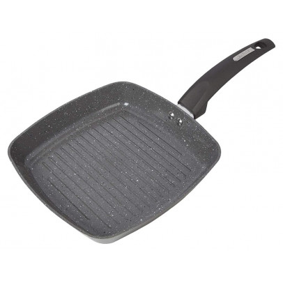 Tower T80336 25cm 'Cerastone' Forged Aluminium Grill Pan – Graphite
