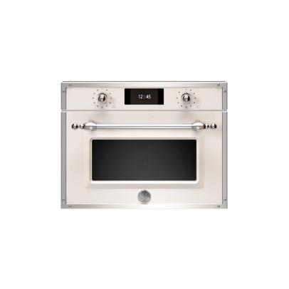Bertazzoni F457HERMWTAX 45cm 'Heritage Series' Combination Microwave – Ivory & Chrome