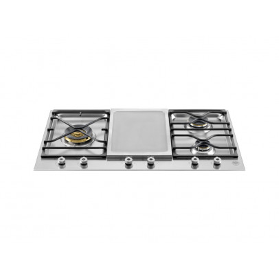 Bertazzoni PM3630GX 90cm 'Professional Series' Segmented Gas Hob with Electric Griddle – Stainless Steel